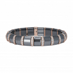 Pager to activate Hematite Bracelet 19 Pave Rose Bars