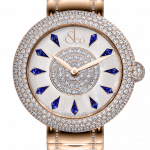 Pager to activate Brilliant Half Pave Rose Gold Couture Blue Sapphires 44mm