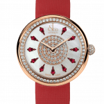 Pager to activate Brilliant One Row Rose Gold Ruby 38mm