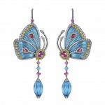 Pager to activate Blue Cathedral Papillon Earrings Small