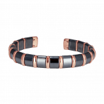 Pager to activate Hematite Cuff Bangle 18 Rose Bars