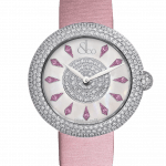 Pager to activate Brilliant Half Pave Pink Sapphires 38mm