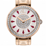Pager to activate Brilliant One Row Rose Gold Couture Ruby 38mm