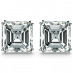 Pager to activate Square Emerald-Cut Solitaire Earrings