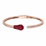 Pager to activate Ruby and Diamond Rose Gold Match Cuff Bracelet 2