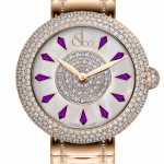 Pager to activate Brilliant Half Pave Rose Gold Couture Amethyst Sapphires 44mm