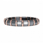 Pager to activate Hematite Bracelet 18 Rose Bars