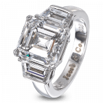 Pager to activate Emerald-Cut Diamond Solitaire
