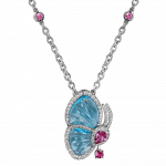 Pager to activate Papillon Necklace with Blue Topaz