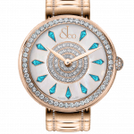 Pager to activate Brilliant One Row Rose Gold Couture Icy Sapphires 38mm