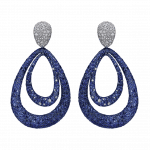 Pager to activate Titanium Glam Sapphire and White Diamond Earrings