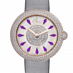 Pager to activate Brilliant Half Pave Rose Gold Amethyst Sapphires 38mm