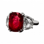 Pager to activate Natural Mozambique No Heat Ruby Ring
