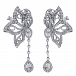 Pager to activate White Diamond Papillon Earrings