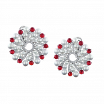 Pager to activate Infinia Pearl Cabochon Rubies Earrings
