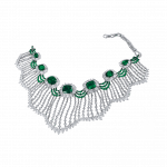 Pager to activate Emerald and Rose Cut Diamond Choker
