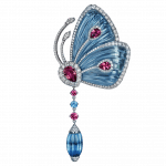 Pager to activate Papillon Brooch