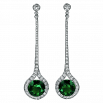 Pager to activate Emerald Diamond Drop Earrings