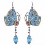 Pager to activate Blue Cathedral Papillon Earrings Large