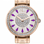 Pager to activate Brilliant One Row Rose Gold Couture Amethyst Sapphires 38mm
