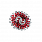 Pager to activate White Gold Ruby Infinia Ring