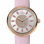 Pager to activate Brilliant One Row Rose Gold Pink Sapphires 38mm