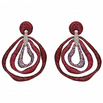 Pager to activate Titanium Glam  Triple Drop Earrings