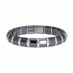 Pager to activate Hematite Bracelet 20 Stainless Steel Bars
