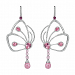Pager to activate Pink Tourmaline Papillon Earrings