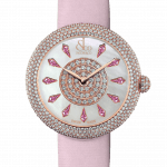Pager to activate Brilliant Half Pave Rose Gold Pink Sapphires 38mm
