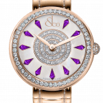 Pager to activate Brilliant One Row Rose Gold Couture Amethyst Sapphires 44mm