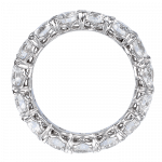 Pager to activate Round Brilliant Cut Eternity Band