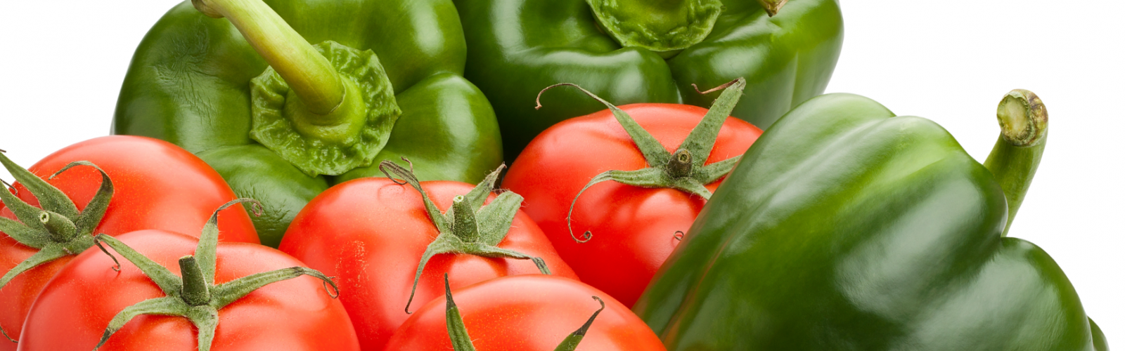 green bell peppers and tomatoes