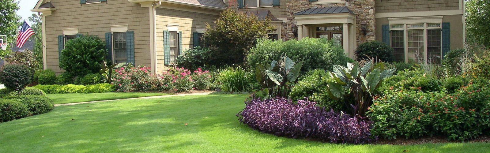 landscape design in front of home