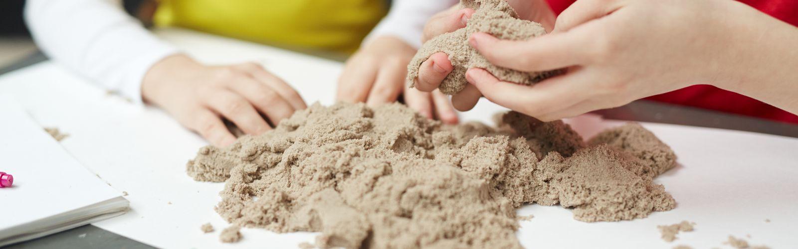 natural kinetic sand craft