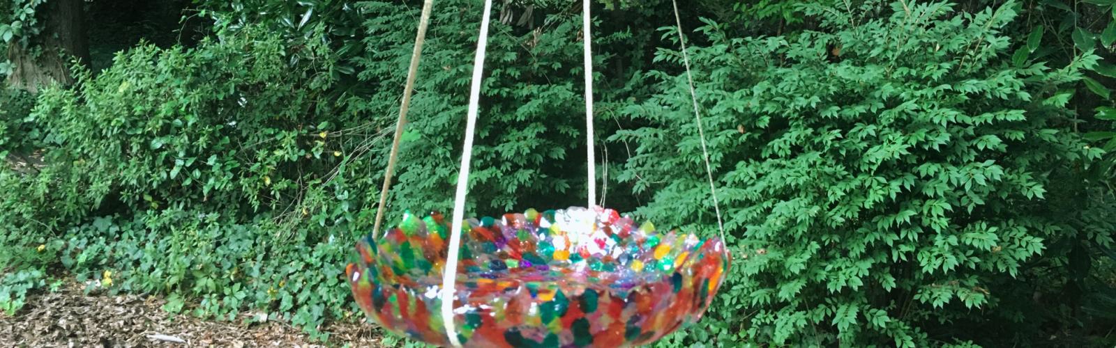 Colorful Birdbath