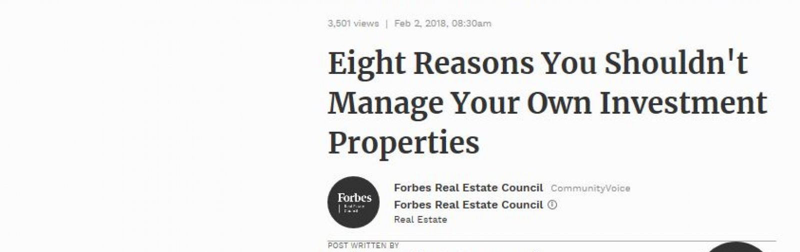 Eight Reasons You Shouldn't Manage Your Own Investment Properties