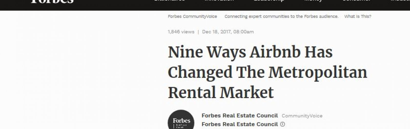 Nine Ways Airbnb Has Changed The Metropolitan Rental Market