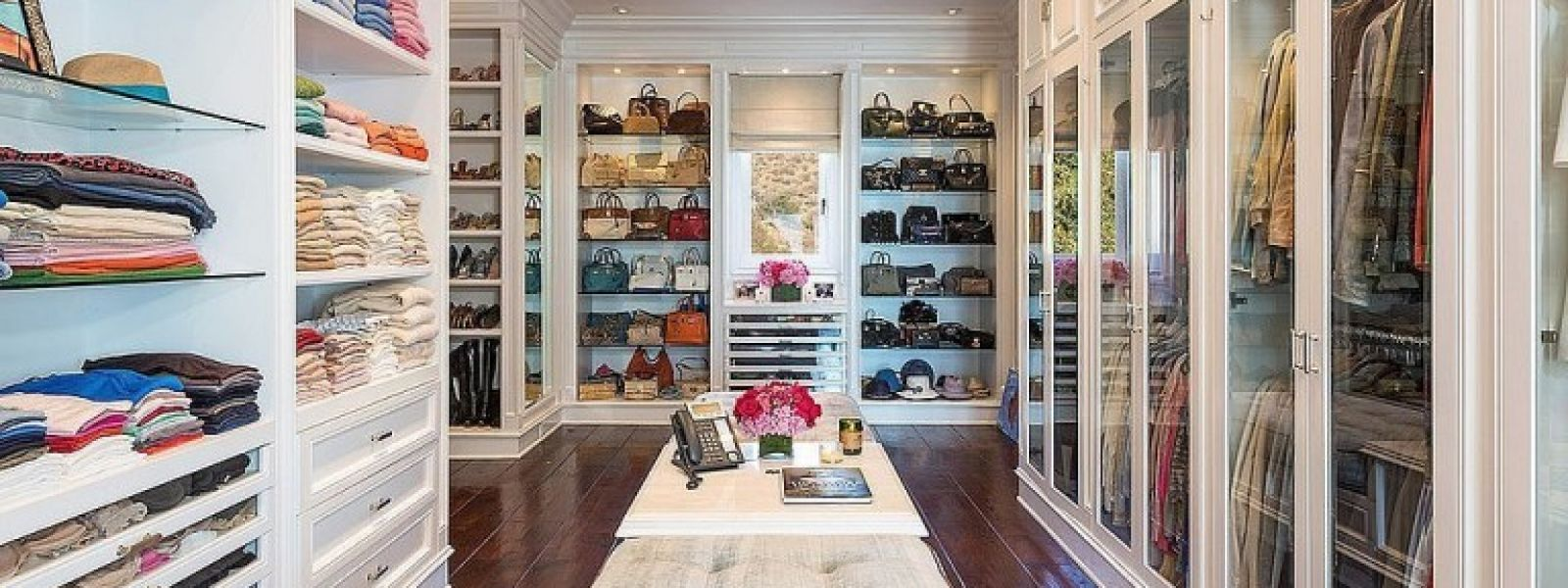 a luxury closet for celebrity