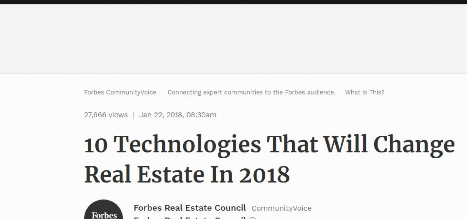 10 Technologies That Will Change Real Estate In 2018