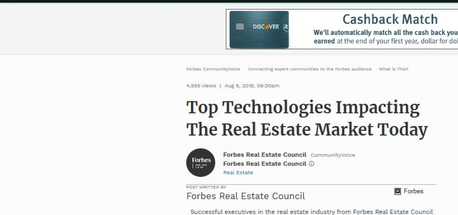 Top Technologies Impacting The Real Estate Market Today