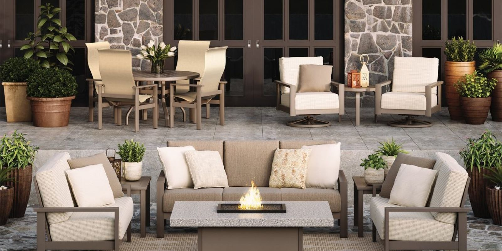 Outdoor Furniture | American Casual Living on Outdoor Living Set id=79711