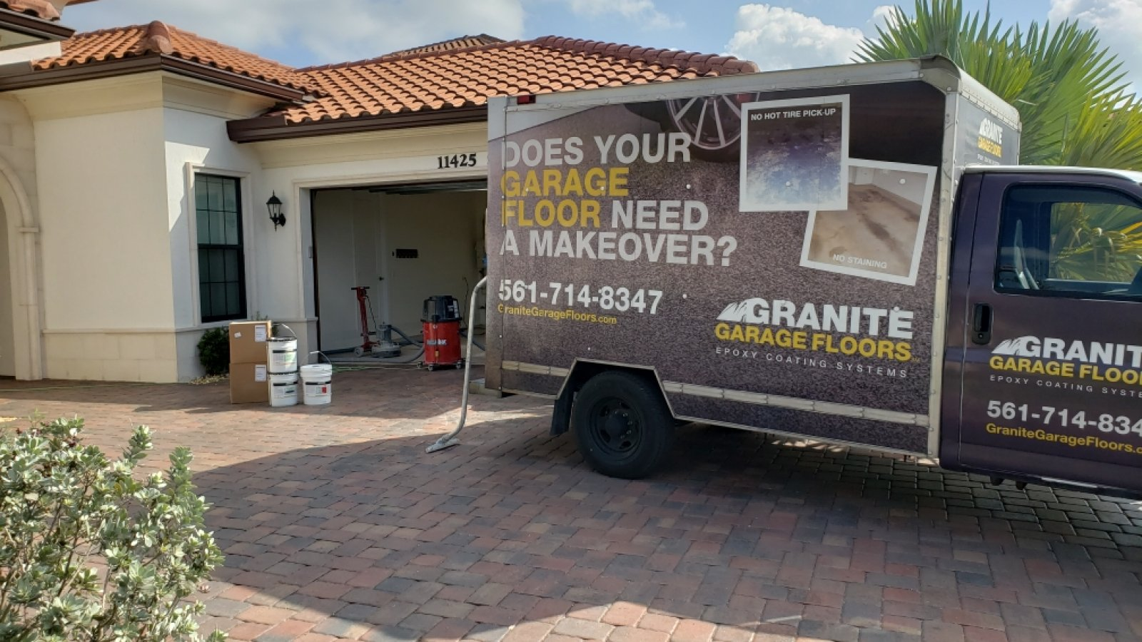 South Florida Granite Garage Floors Truck