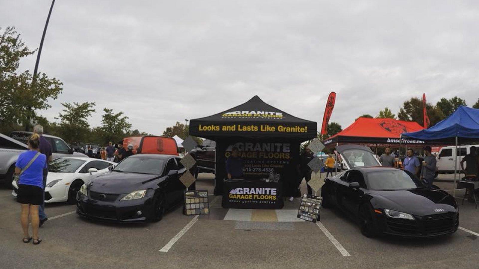 Granite Garage Floors Car show Nashville
