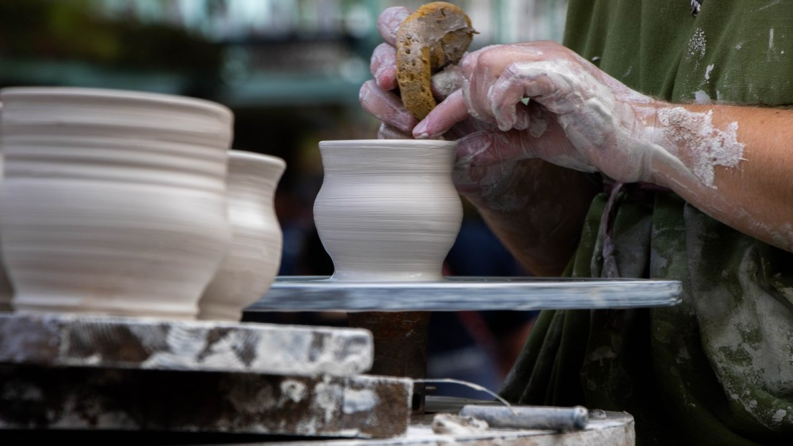 """Renaissance employee making pottery on school days"" by Daphney Hernandez, Navasota HS, Feature Photo, 2nd Place"