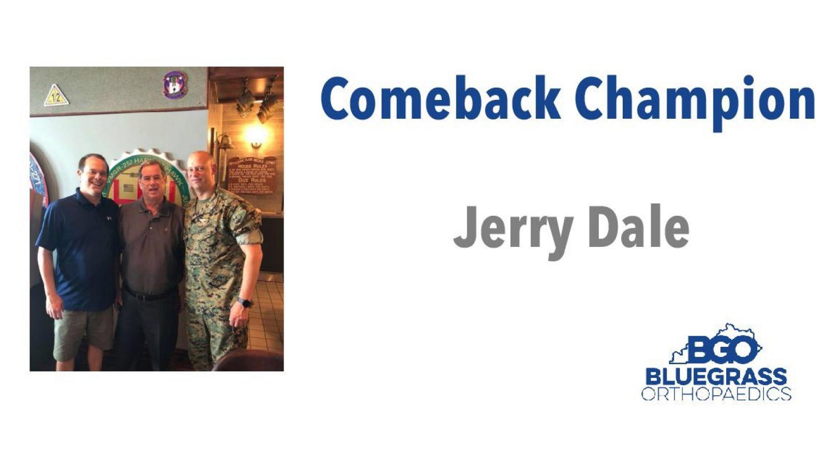 Jerry Dale: Comeback Champion