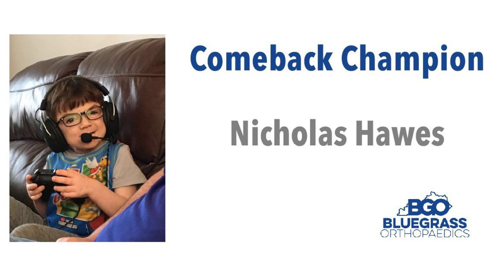 Nicholas Hawes:  Comeback Champion of the Month