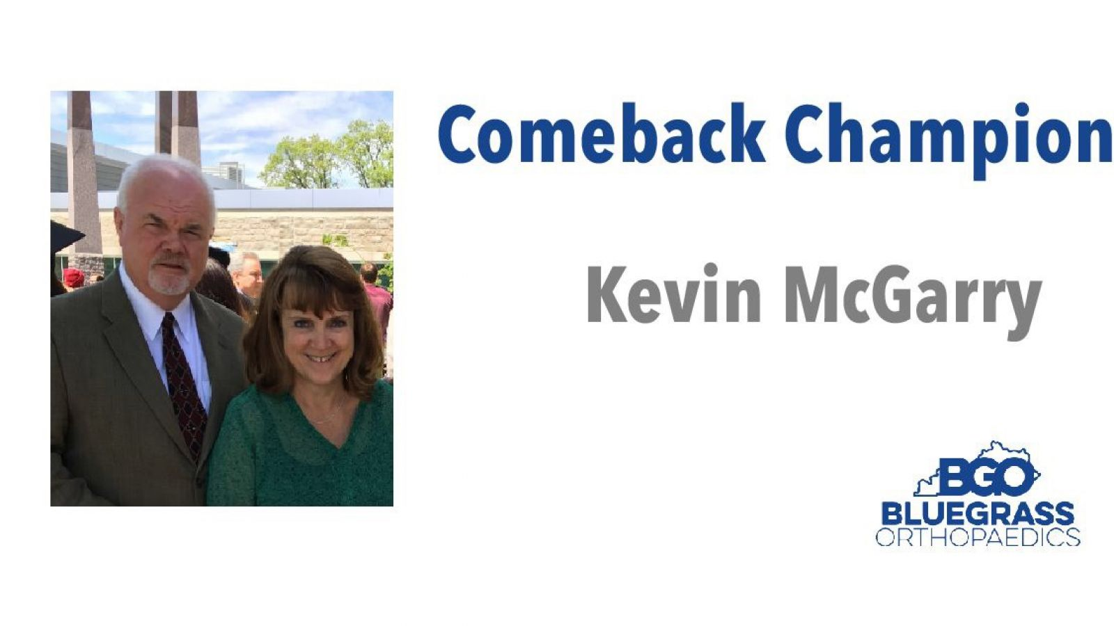 Kevin McGarry:  Comeback Champion