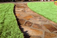 Pager Link for Brown flagstone walkway