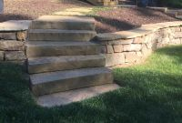 Pager Link for Stone treads, brown stone bolder wall